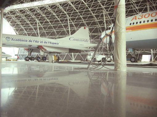 Aeroscopia – Béton poli pour un musée