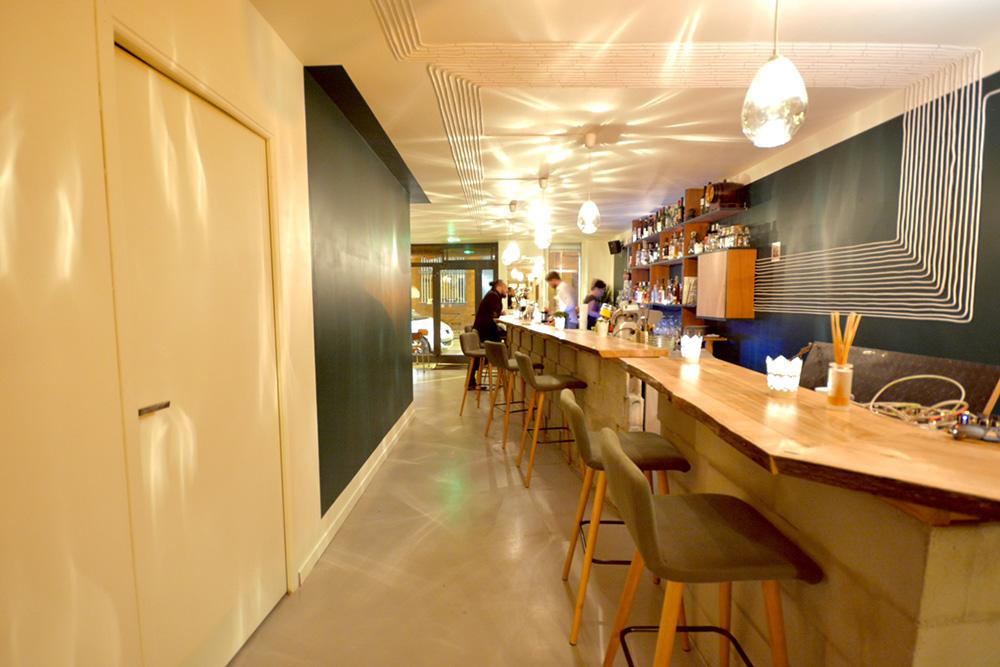 Béton ciré pour bar restaurant